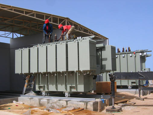 Transformer substation in Mauritania