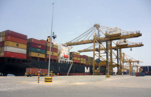 Port of Lome, Togo, loading of vessels